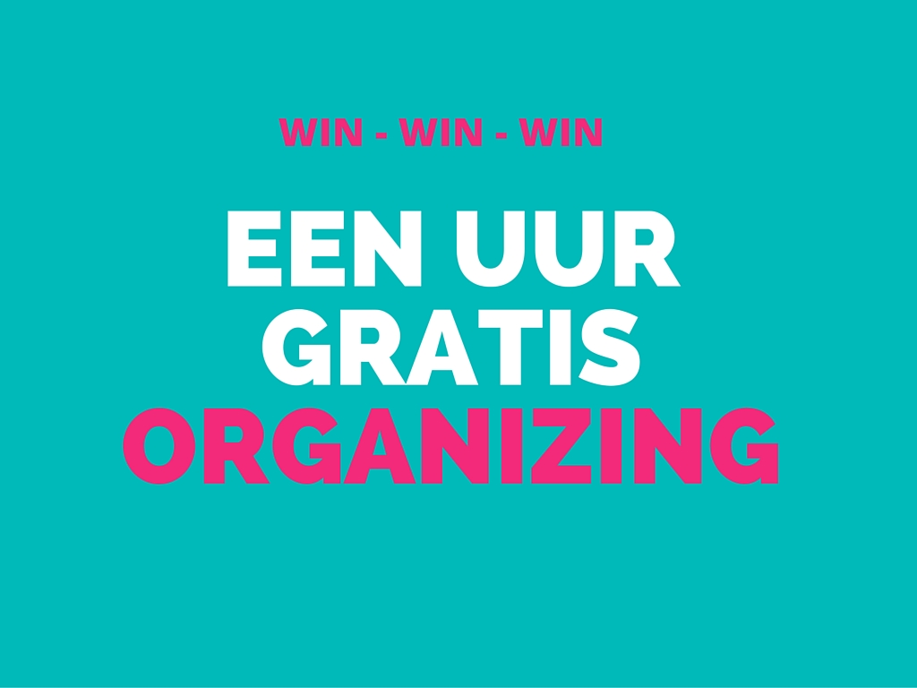 Een uur gratis organizing